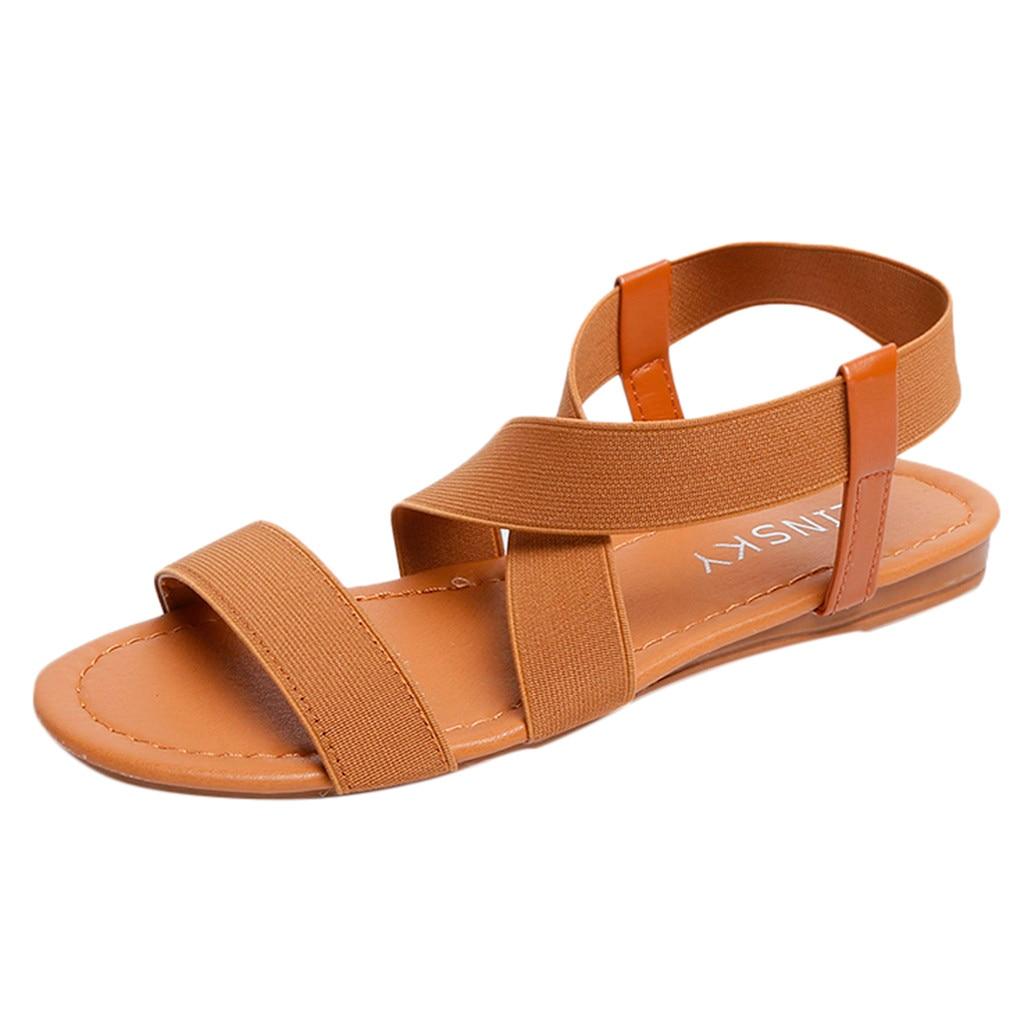 2019 Mode Sandalen Frauen Niedrigen Ferse Anti Schleudern Strand Schuhe Cross Strap Sandalen Peep-toe Sandalen Heißer Frauen Schuhe Sandalia