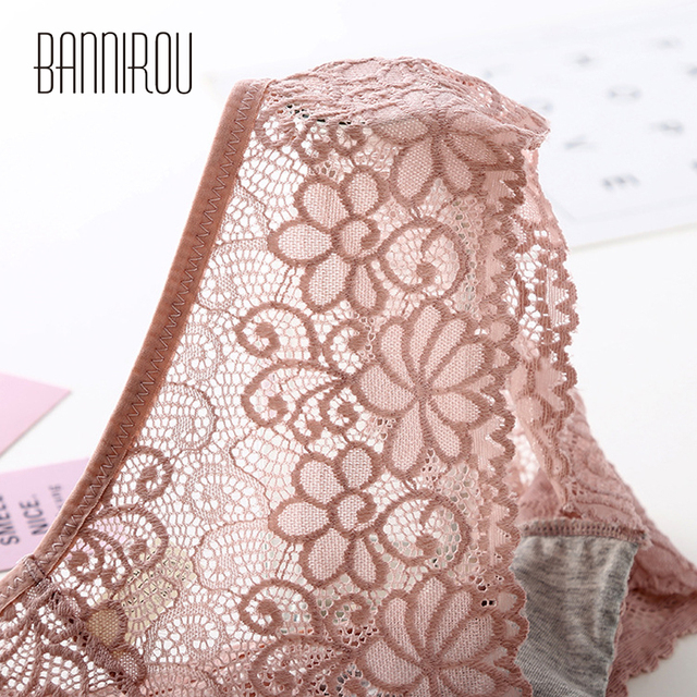 3 Pcs Panties For Woman Underwear Sexy Lace Breathable Female Panty Transparent Briefs Sexy Underwear Women M-XXL 2019 BANNIROU 3