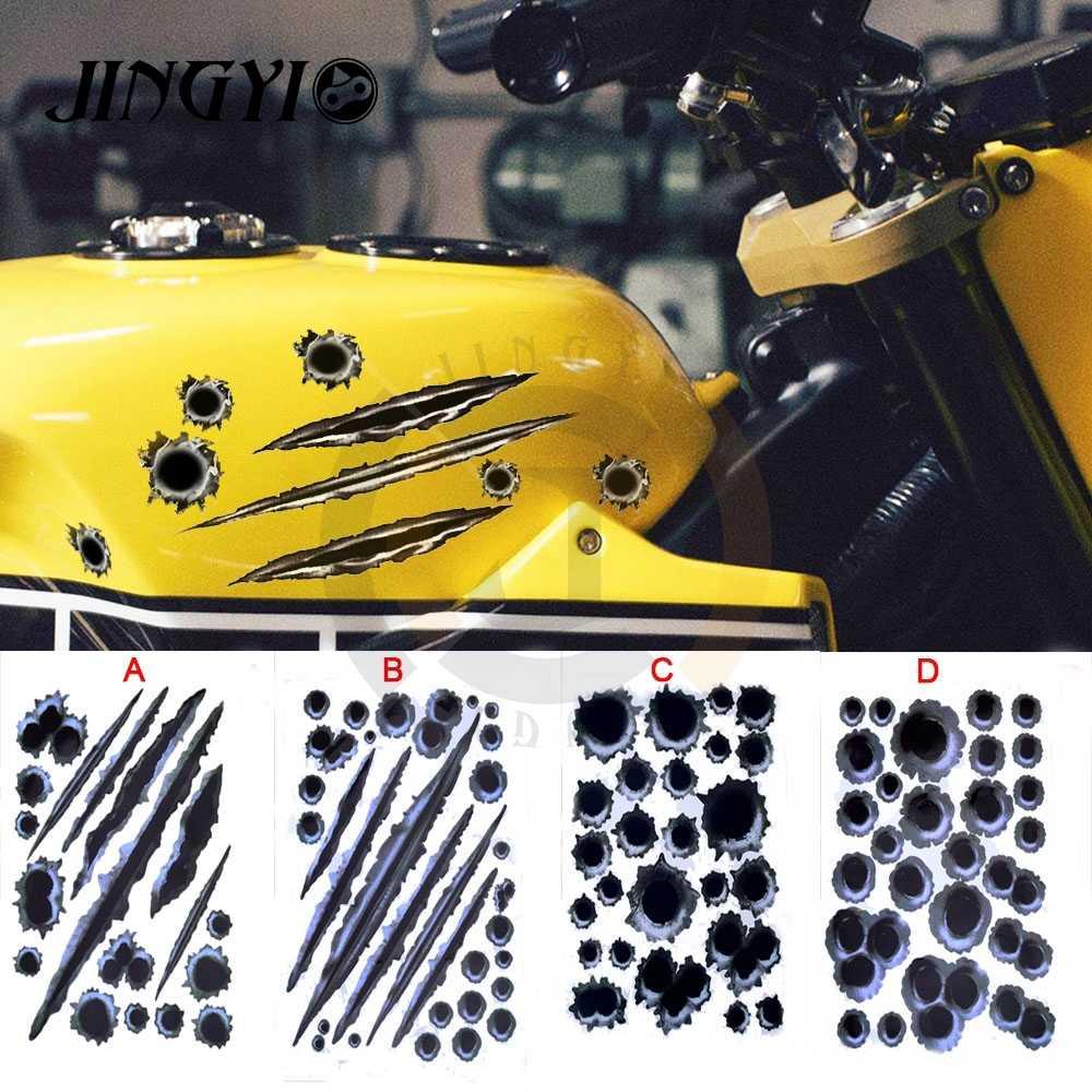 ل هارلي سوفتيل nc750x gsxr المروحية ktm دوق 200 bmw r1200gs lc بندقية رصاص الزخرفية الشارات غطاء دراجة نارية سيارة ملصقات