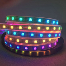 50M/lot  Waterproof WS2813 5050 30leds/m LED strip,white PCB Colorful DC 5V led lights Like horse running,water for decoration
