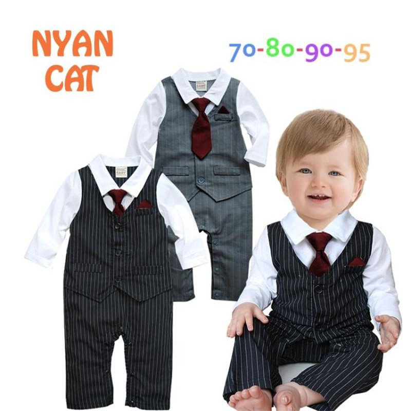 23ae8833e 2018 New Design Baby Romper Boys Formal Handsome Baby Jumpsuit One ...