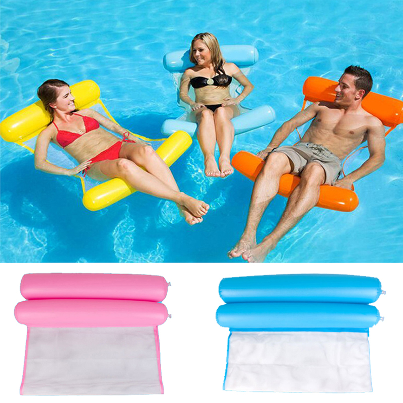 120cm*70cm Swimming Pool Beach Toys Inflatable Float Bed Lounge Chair Water Sports Toys For Children Adult