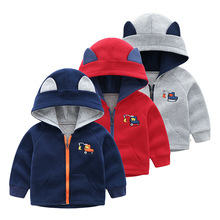 Casual Toddler Kid Baby Boy Warm Jacket Cotton Zipper Coat Top Hooded Outwear New Year's Baby Boys Clothing for Autumn Winter все цены