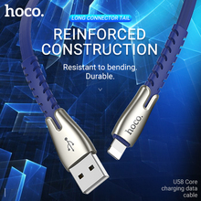hoco usb charging data sync cable for lightning iphone 7 8 plus charger wire 2.4A ipad flat