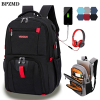 Oxford Swiss Multifunctional Men Laptop Backpack sleeve case bag Waterproof USB Charge Port Schoolbag Hiking Travel bag Rucksack