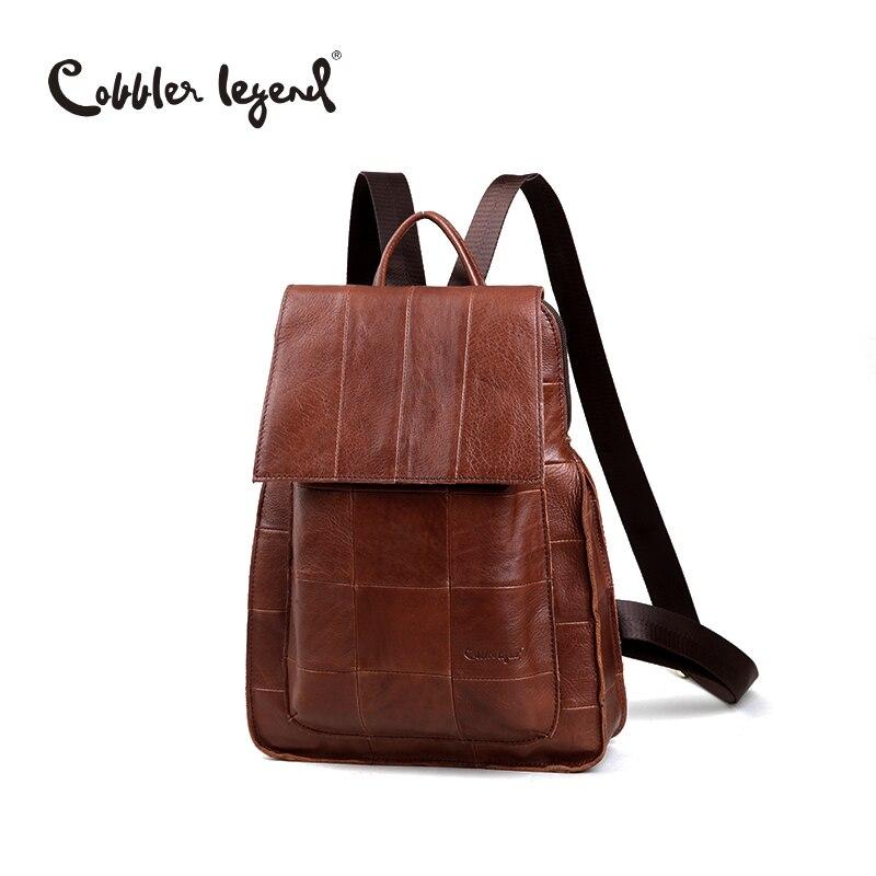 Cobbler Legend marque Designer sac à dos en cuir de vachette pour femme sac à dos quotidien pour femme sac d'école sac de voyage pour filles #510112-1