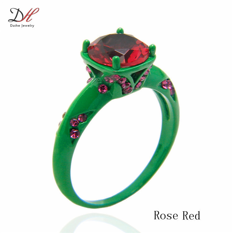 Light Pink Red Green Cubic Zirconia Black Plated Women S Wedding Ring Set Engagement Turkish O Jewelry In Rings From