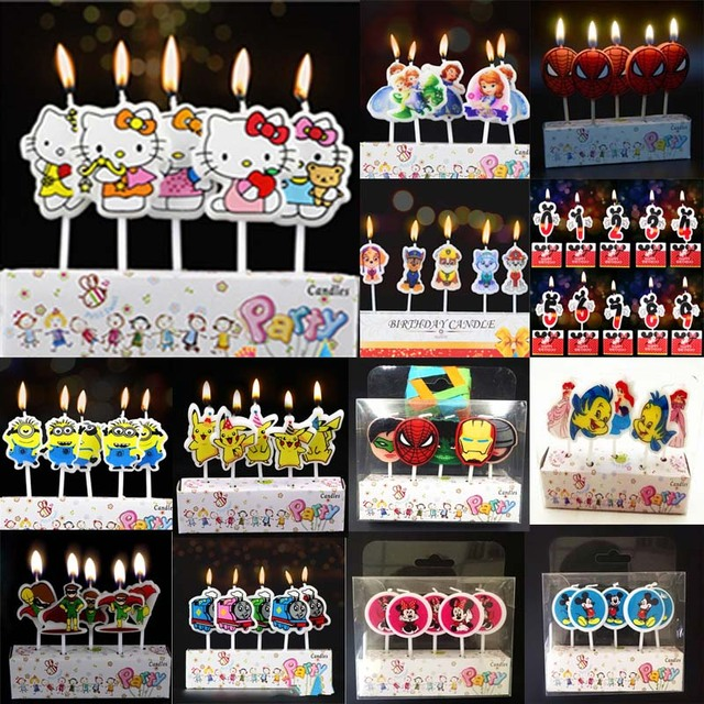 Mickey Mouse Cake Number Candles Minions Sofia Birthday Party Favors Baby Shower Festival Christmas Dinner Decorations