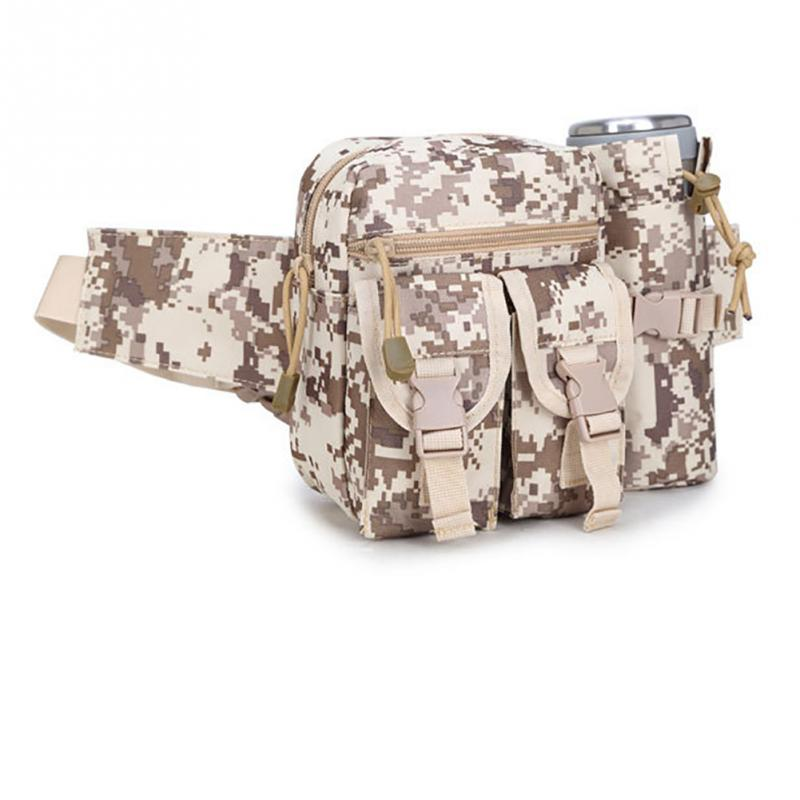 Multifunctional Camouflage Bags Team Building Trainning Bag Unisex Sports Bags Travel Kettle Bag Waistbag