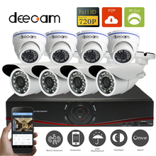 Deecam Home 8 channel cctv Security camera with NVR Recording System 8pcs 720P IR Camera Kit 8ch 720P NVR hdmi