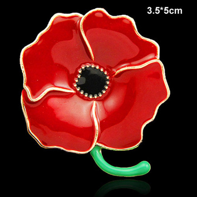 US $12 8 |Enamel Red Poppy Pin Brooch Royal British Legion Pin Brooches-in  Brooches from Jewelry & Accessories on Aliexpress com | Alibaba Group