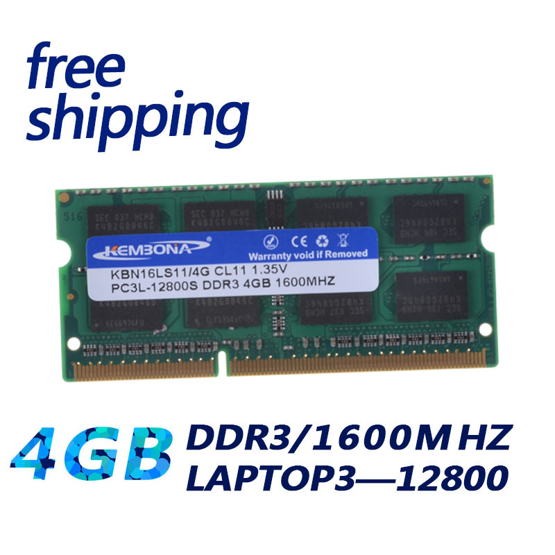 1 35V Voltage DDR3L 1600 PC3 12800 DDR3 1600MHz PC3 12800 Non ECC 4GB SO DIMM