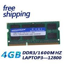 1,35 V Spannung DDR3L 1600 PC3-12800/DDR3 1600 MHz PC3 12800 nicht ECC 4 GB SO-DIMM Speichermodul Ram Memoria für Laptop/Notebook
