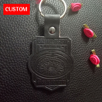 Factory Private Customzied Metal PU Leather Embossed Sewing On Clothing Private Label Metal Bags Leather Label