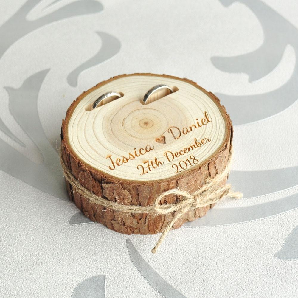 Personalized Wedding Ring Box, Custom Ring Bearer, Rustic ...