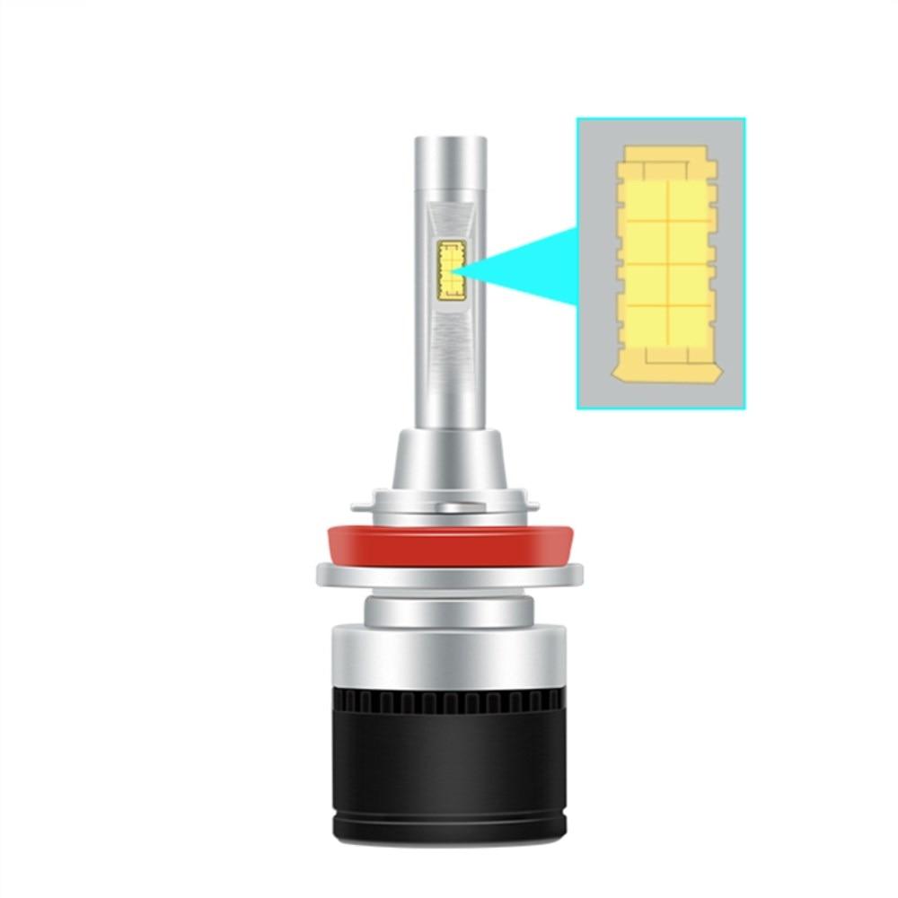 Brand 2Pcs 9005 HB3 H11 H7 H4 Led H1 H8 H9 bulb 72w  Headlights Auto Lamp With Fan Light 6000k White light 12V Car