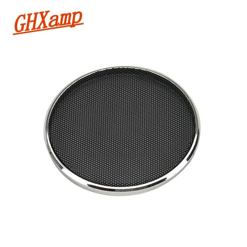 GHXAPM 2PCS 3 palcový reproduktor reproduktoru gril síťovina skříňka síťový ochranný kryt DIY galvanicky stříbro