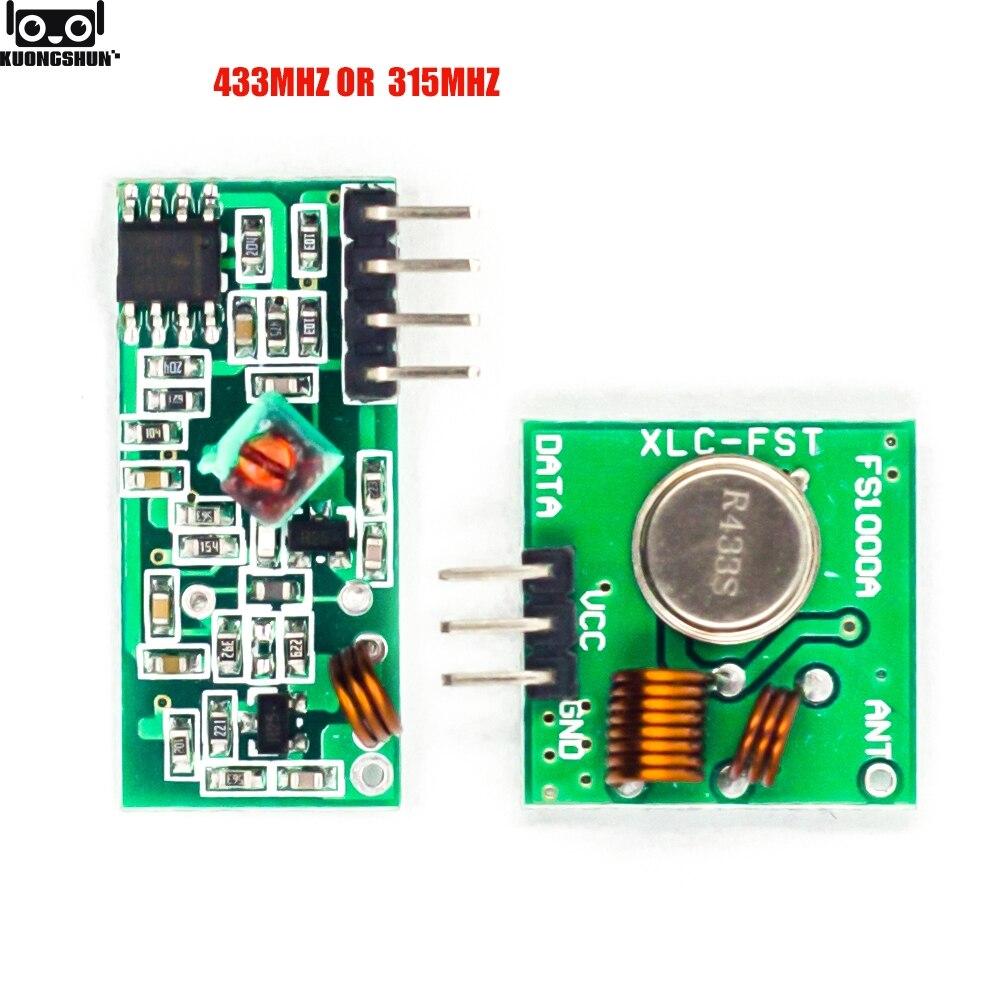 433 мгц радиочастотный передатчик и приемник модуль комплект звеньев для ARM/MCU WL DIY 315 МГц/433 МГц беспроводной для arduino Diy Kit