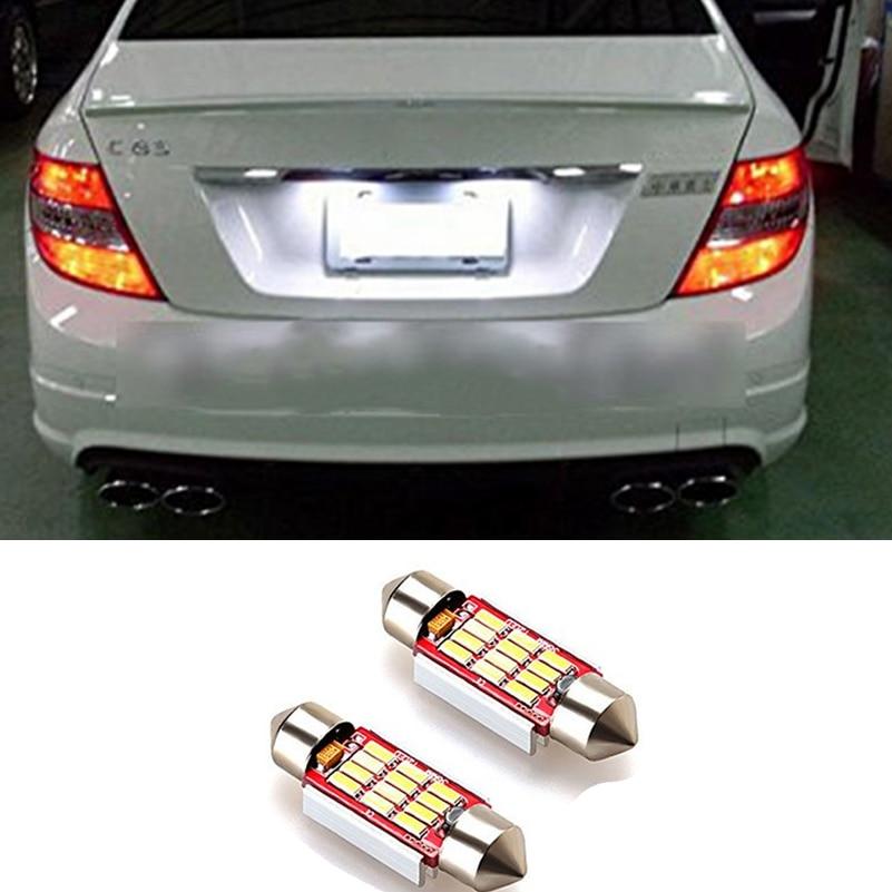 2x luci interne Canbus C5W 36mm bianche per auto targa LED per - Luci auto