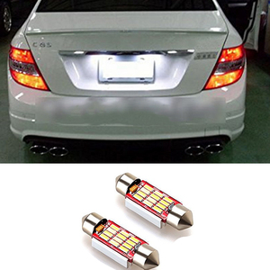 2x Canbus C5W 36mm White Car LED License Number Plate Light Interior Lights For Mercedes W211 W203 W210 W212 W209 W169 W208 AMG