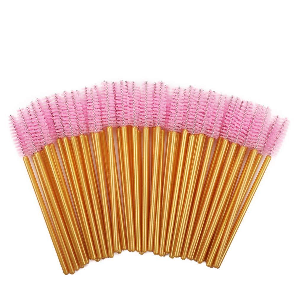 1000pcs/ Pack Mascara Wands Disposable Eye Lash Brushes Applicator For Eyelash Extensions Makeup Tool For Women Gold/Pink