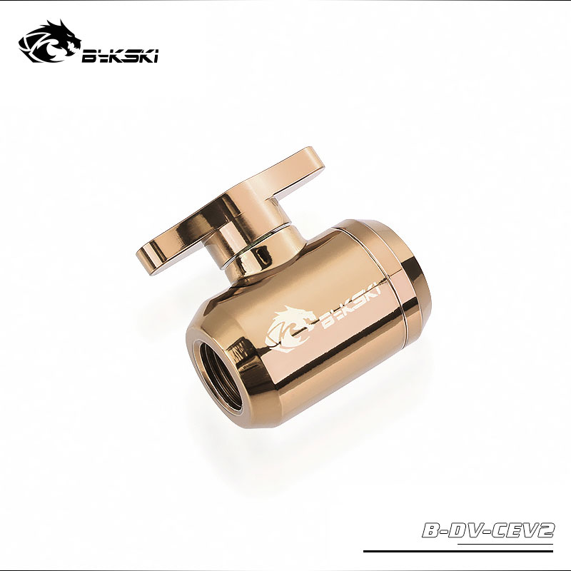 BYKSKI Water Valve Switch Double Inner G1 4 Thread Double Female Plastic Handle Water Cooler System Computer Accessories Fitting in Fluid DIY Cooling from Computer Office