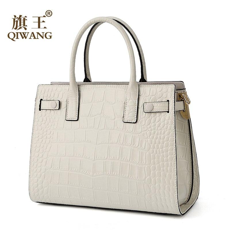 Sacs à main en cuir véritable pour femmes sacs à bandoulière blancs sac de mode Feamle 2019 sacs de Designer sacs de marque célèbre femmes sacs bolsa feminina