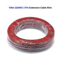 3 Pin 22AWG 20AWG 18AWG Electrical Wires 100m Extension cable For 5050 WS2811 WS2812 LED Strip Light Controller SM JST Connector