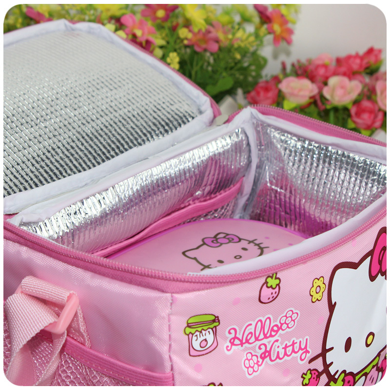 Free Shipping Children Cartoon Hello Kitty Thermal Printing Lunch Box Bag  Insulated Cooler Bag Picnic Dining Travel Tote Bag-in Lunch Bags from  Luggage ... 4ce93a1faa257