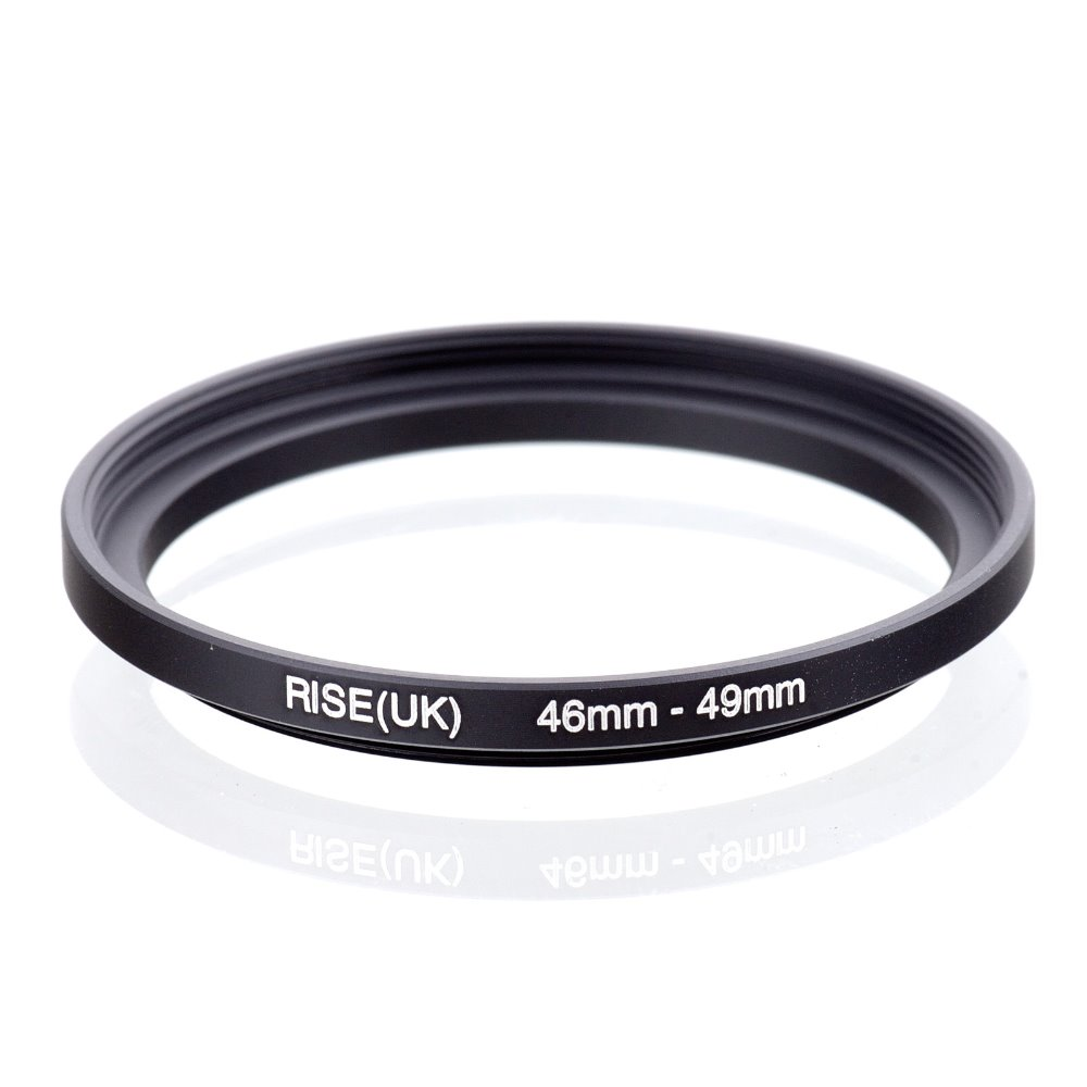 original RISE(UK) 46mm-49mm 46-49mm 46 to 49 Step Up Ring Filter Adapter black free shipping цена