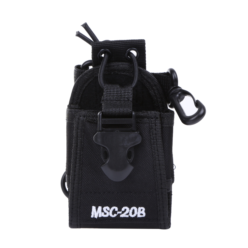 1Pcs MSC 20B Portable Black Radio Case Holder Nylon Walkie Talkie Bag for Baofeng Radio UV