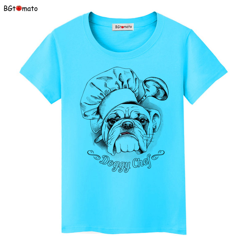 BGtomato Doggy chef funny printing shirts Lovely style summer cool tops original brand cloth hot sale casual tee shirts