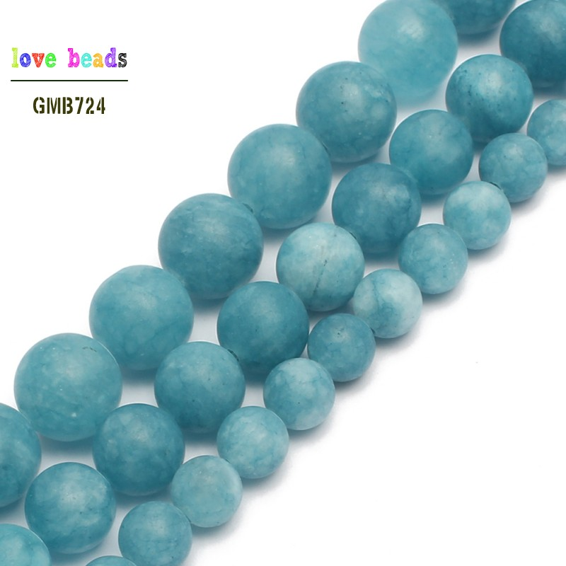Matte Dark Blue Stone Round Loose Beads For Jewelry Making Diy Bracelet Necklace 6/8/10mm Pick Size 15inches