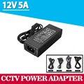 Самая низкая Цена Новый AC Адаптер Конвертер Для DC 12 В 5А 60 Вт LED блок Питания Зарядное Устройство для 5050/3528 SMD Светодиодные или ЖК-Монитор CCTV
