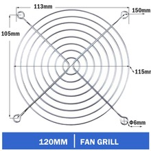 Freight free 100pcs set Brand New Metal Steel 120mm 12cm Fan Protector Finger Guard Grill Net