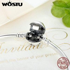 Image 5 - WOSTU authentique 925 argent Sterling graver flocon de neige fermoir Unique que vous êtes chaîne Bracelet & Bracelet ajustement bijoux à bricoler soi même XCHS915