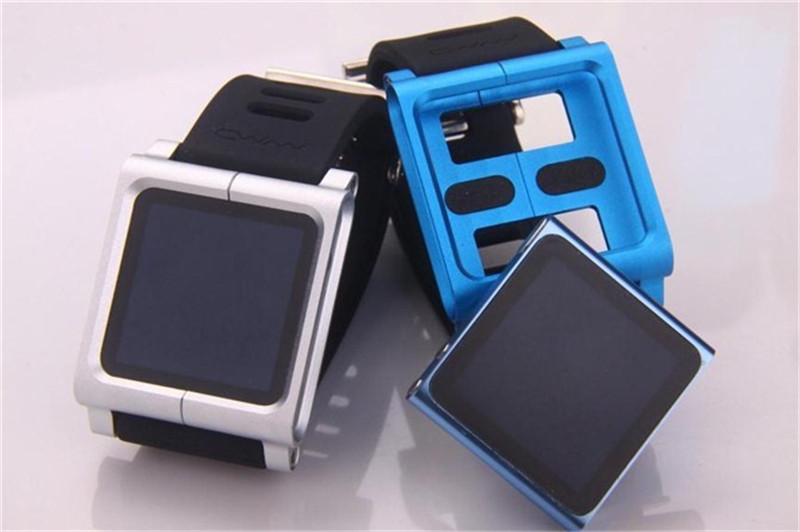 Luxury Colorful First generation Insert style Metal Aluminum Frame + Silicon Wrist Strap Cover Case For apple iPod Nano 6th bag