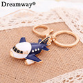 crystal airplane key chain lovely rhinestone enamel plane toy keychains for boy girl factory sale fashion bag pendant charms