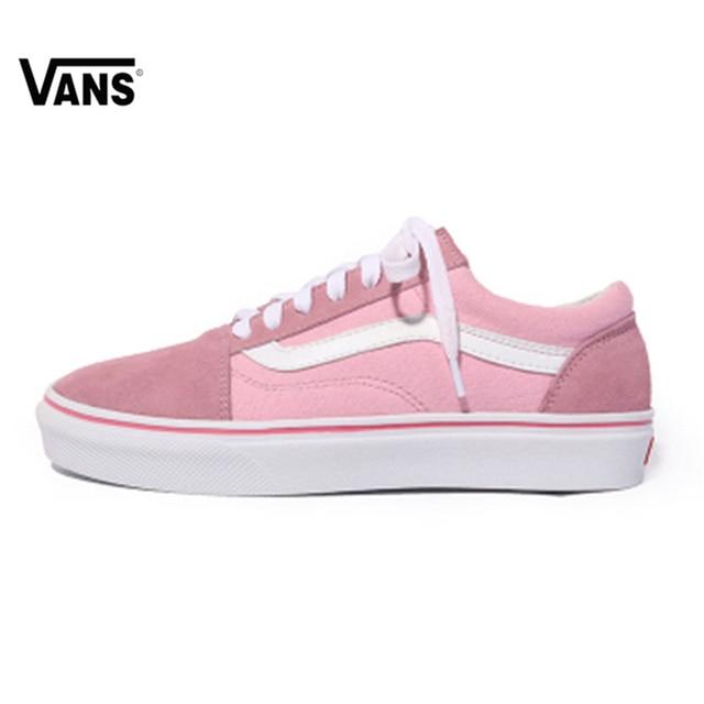 2c54f40f74b VANS OLD SKOOL Low-Top Female Skateboarding Shoes Old Skool Womens Sport  Shoes Canvas Sneakers VN0A38HBQ7K 36-39