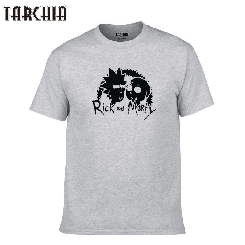 TARCHIA 2019 new fashion summer brand t-shirt cotton tops tees men short sleeve rick morty boy casual homme tshirt t shirt plus