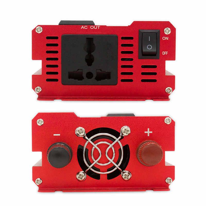 6000W szczytowy falownik samochodowy DC 12V/24V do AC 110/220V przetwornica napięcia V konwerter ładowarka inwerter transformator sinusoida