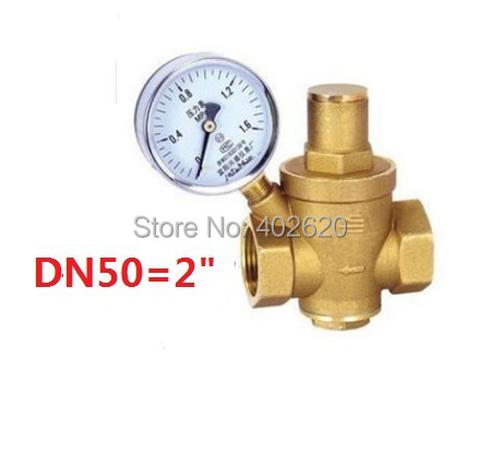 free shipping2'' Brass DN50 water pressure regulator with gauge,pressure maintaining valve,water PRV pressure reducing valve 2dn50 brass water pressure regulator without gauge pressure maintaining valve tap water pressure reducing valve