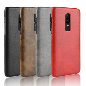 Image 5 - 30PCS Retro Ultra Thin Leather Skin Case For Oneplus 6 Business Style Case For Oneplus 6 Back Protector