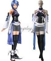 Kingdom Hearts Birth By Sleep Aqua Cosplay Costume E001