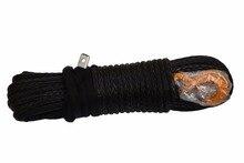 Nero 10mm * 30m 12 treccia Winch Sintetico Corda, 3/8x100 Winch Via Cavo, corda sintetica Verricello, di Ricambio Verricello Cavo
