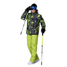 Outdoor men snowboard suits winter warm ski jacket male waterproof skiing jacket and pant breathable snow ski suit for man