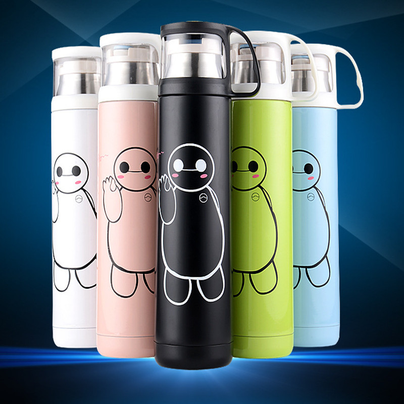 500ml stainless steel vacuum thermo water bottle hot water thermos mug bottle fashion gift in. Black Bedroom Furniture Sets. Home Design Ideas