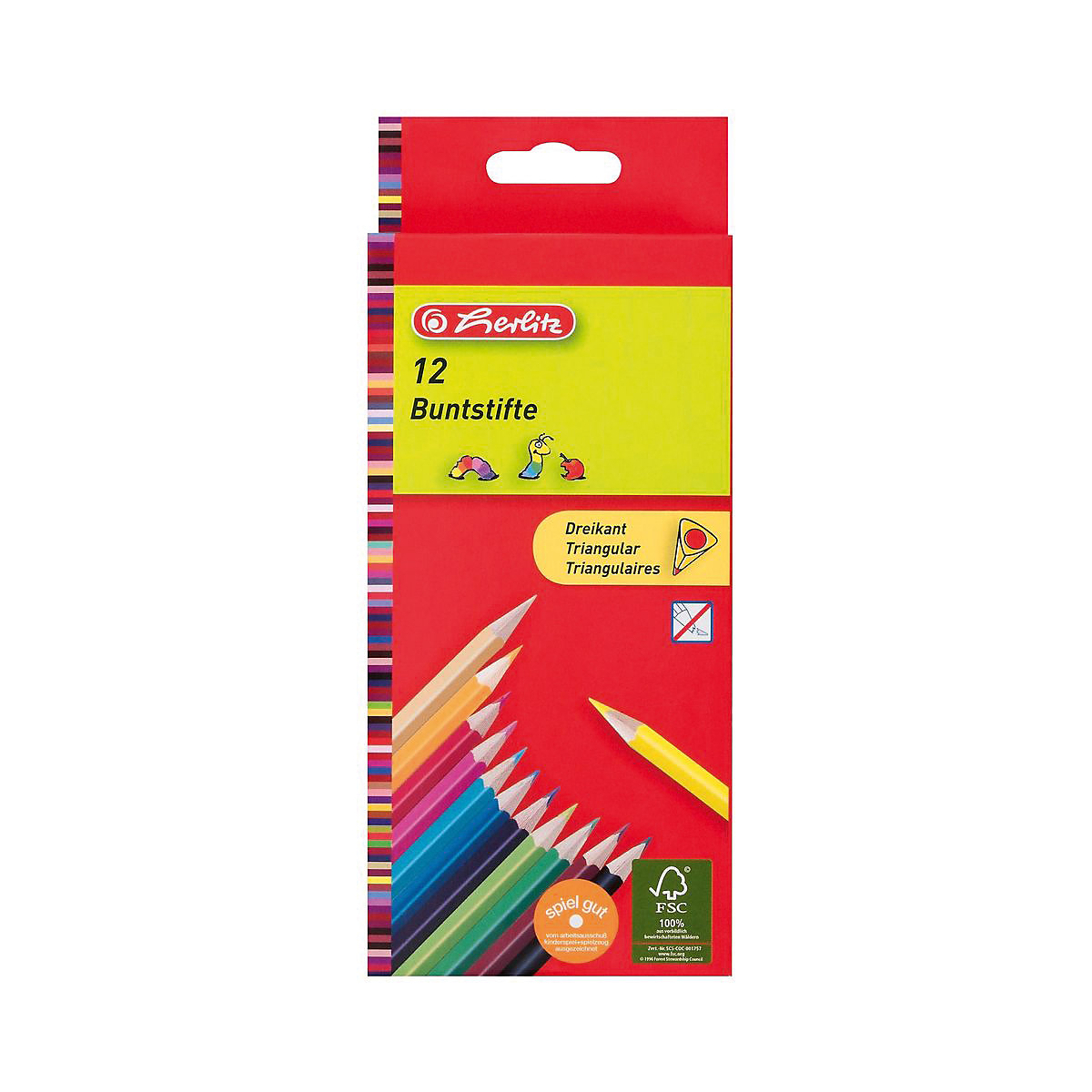 HERLITZ Wooden Colored Pencils 6892614 colored pencil for boys and girls children sets MTpromo