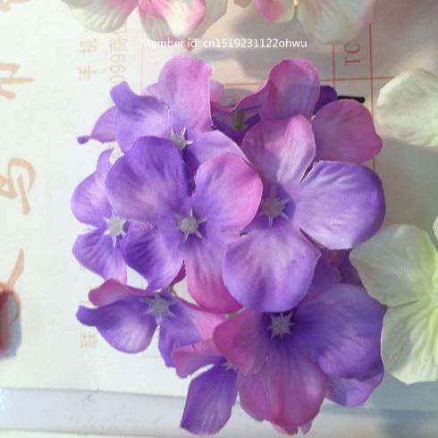 Artificial Hydrangea Silk Flower purple Decorative Flower DIY