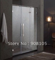 china wholesale customized clear tempered glass shower screen curtain wall door with aluminum profile frame sliding door roller|glass shower screens|glass shower|tempered glass shower -